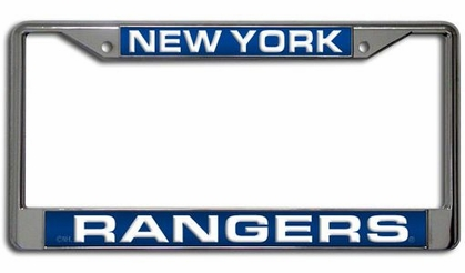 New York Rangers Laser Etched Chrome License Plate Frame