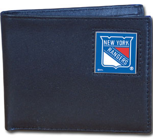 New York Rangers Leather Bifold Wallet (F)