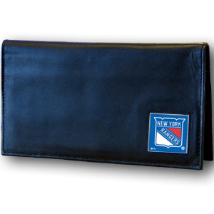 New York Rangers Leather Checkbook Cover (F)