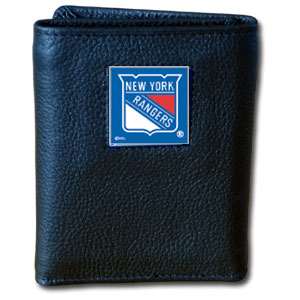 New York Rangers Leather Trifold Wallet (F)