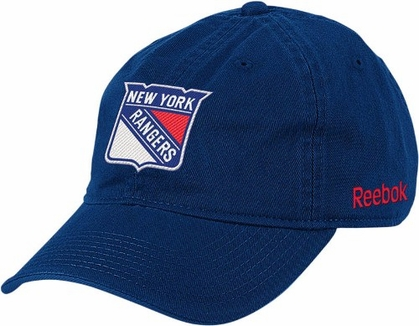 New York Rangers Logo Team Slouch Adjustable Hat