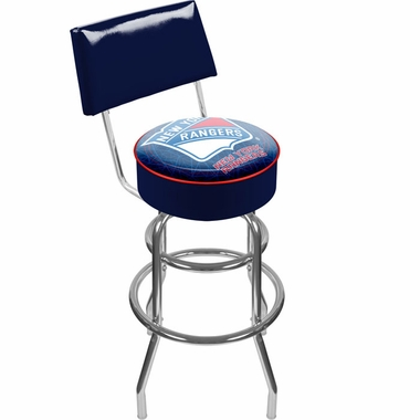New York Rangers Padded Bar Stool with Back