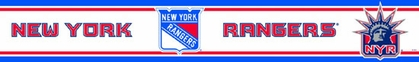 New York Rangers Peel and Stick Wallpaper Border