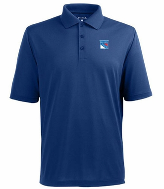 New York Rangers Mens Pique Xtra Lite Polo Shirt (Color: Royal)
