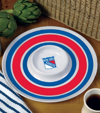 New York Rangers Plastic Chip and Dip Plate