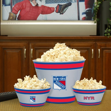 New York Rangers Plastic Serving Set
