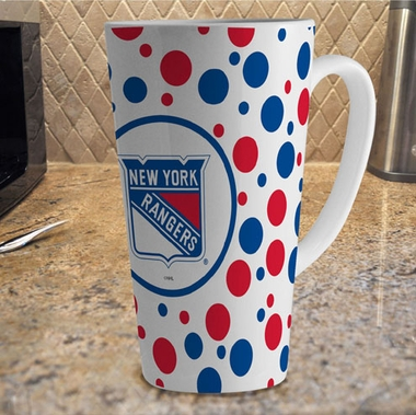 New York Rangers Polkadot 16 oz. Ceramic Latte Mug