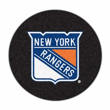 New York Rangers Puck Shaped Rug