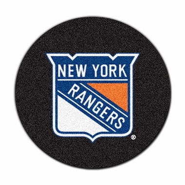 New York Rangers 27 Inch Puck Shaped Rug