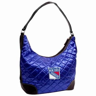 New York Rangers Quilted Hobo Purse