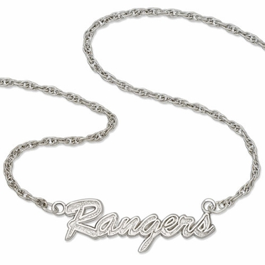 New York Rangers Script Necklace