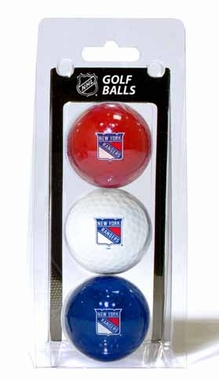 New York Rangers Set of 3 Multicolor Golf Balls