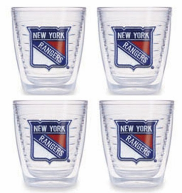 New York Rangers Set of FOUR 12 oz. Tervis Tumblers