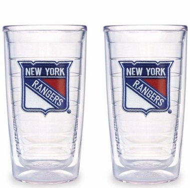 New York Rangers Set of TWO 16 oz. Tervis Tumblers