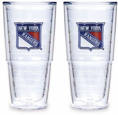 "New York Rangers Set of TWO 24 oz. ""Big T"" Tervis Tumblers"