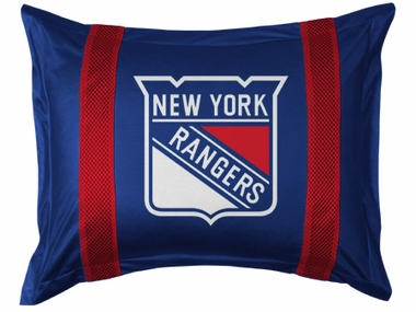 New York Rangers SIDELINES Jersey Material Pillow Sham