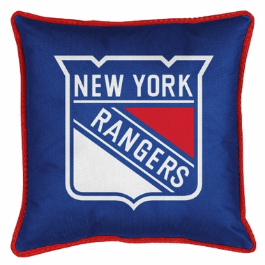 New York Rangers SIDELINES Jersey Material Toss Pillow