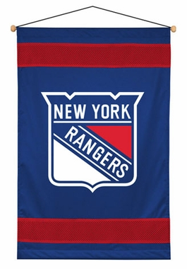 New York Rangers SIDELINES Jersey Material Wallhanging