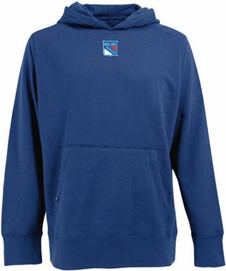 New York Rangers Mens Signature Hooded Sweatshirt (Color: Royal)