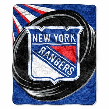New York Rangers Super-Soft Sherpa Blanket