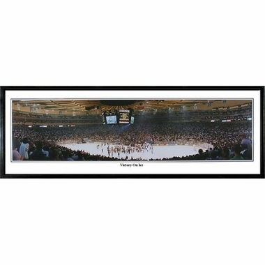 New York Rangers Victory on Ice Framed Panoramic Print