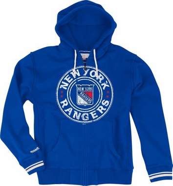 New York Rangers Vintage Full Zip Premium Hooded Sweatshirt