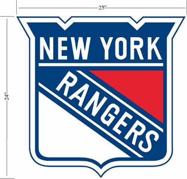 New York Rangers Wallmarx Large Wall Decal