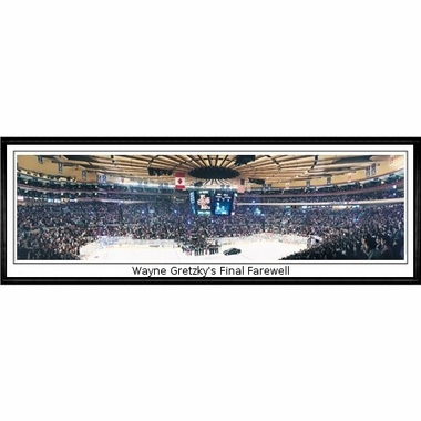 New York Rangers Wayne Gretzky's Final Farewell Framed Panoramic Print