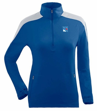 New York Rangers Womens Succeed 1/4 Zip Performance Pullover (Team Color: Royal)