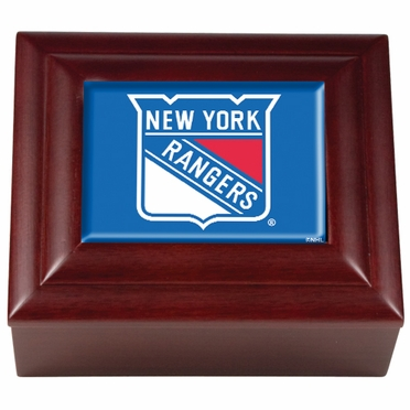New York Rangers Wooden Keepsake Box