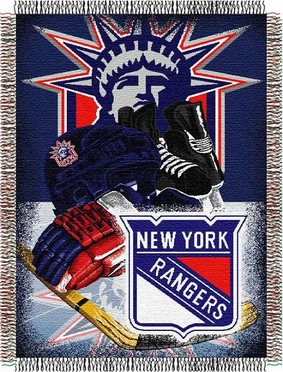 New York Rangers Woven Tapestry Blanket