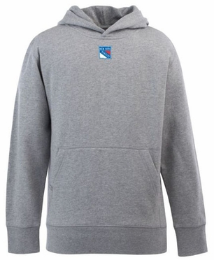 New York Rangers YOUTH Boys Signature Hooded Sweatshirt (Color: Gray)