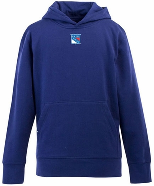 New York Rangers YOUTH Boys Signature Hooded Sweatshirt (Team Color: Royal)