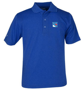 New York Rangers YOUTH Unisex Pique Polo Shirt (Team Color: Royal) - Large
