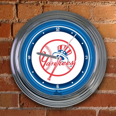 New York Yankees 15 Inch Neon Clock