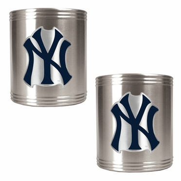 New York Yankees 2 Can Holder Set