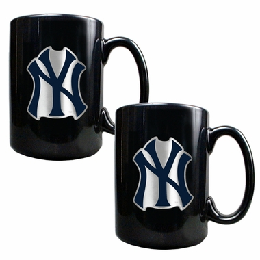 New York Yankees 2 Piece Coffee Mug Set