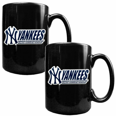 New York Yankees 2 Piece Coffee Mug Set (Wordmark)