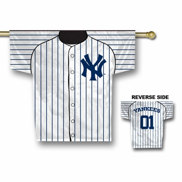 New York Yankees 2 Sided Jersey Banner Flag (F)