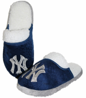 New York Yankees 2012 Womens Team Color Sherpa Glitter Slippers
