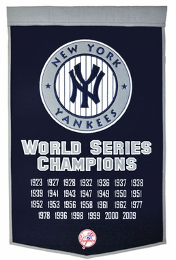 "New York Yankees 24""x36"" Dynasty Wool Banner"