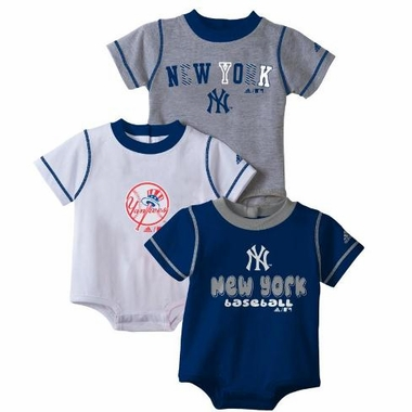 New York Yankees 3 Pack Creeper Set