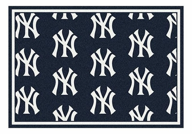 "New York Yankees 5'4"" x 7'8"" Premium Pattern Rug"