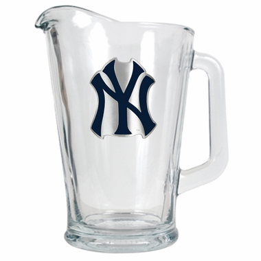New York Yankees 60 oz Glass Pitcher