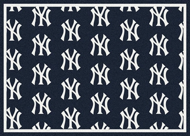 "New York Yankees 7'8 x 10'9"" Premium Pattern Rug"
