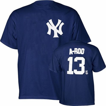 New York Yankees Alex Rodriguez Name and Number T-Shirt