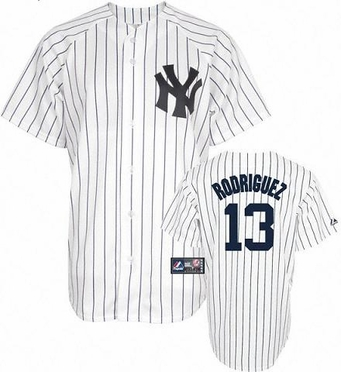 New York Yankees Alex Rodriguez YOUTH Replica Player Jersey