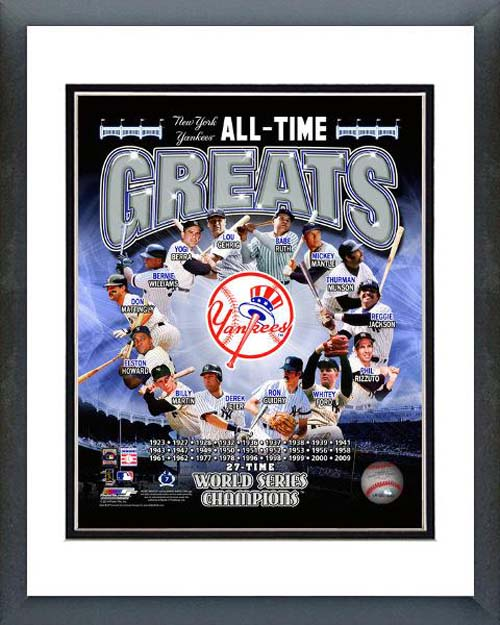 New York Yankees All Time Greats Composite Framed Photo