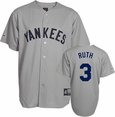 New York Yankees Babe Ruth Replica Throwback Jersey