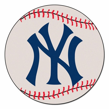 New York Yankees 27 Inch Baseball Shaped Rug
